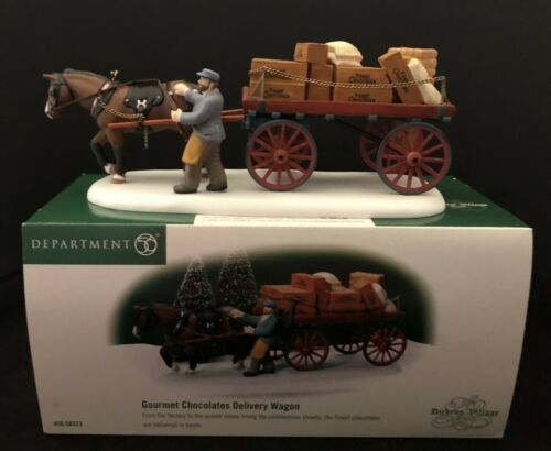 Dept. 56 Dickens Village GOURMET CHOCOLATES DELIVERY WAGON Accessory w/ Box Mint
