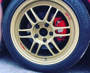 Mint condition enkei rpf1 wheels and tires 17x8 +45