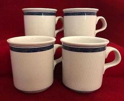 Beautiful Set of 4 Dansk New Scandia Coffee Mugs or Tea Cups - FREE SHIPPING!!!