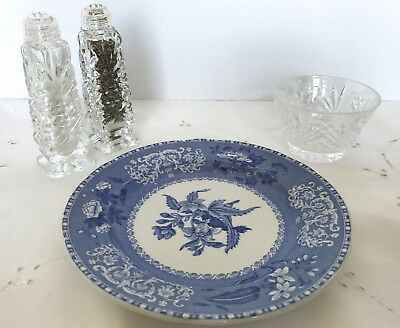 Spode Copeland CAMILLA BLUE SCALLOPED SALAD PLATES Old Blue Backstamp -12 Avail