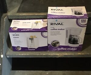 2 Slice Toaster & 5 cup Coffee Maker
