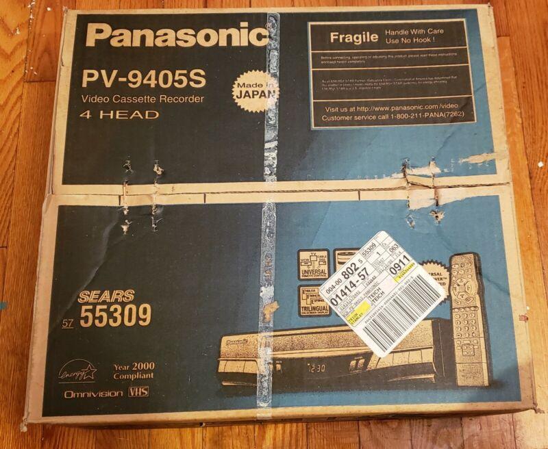Panasonic PV-9405S Video Cassette Recorder 4 Head VCR. NEW