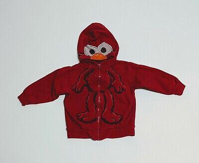Elmo Sesame Street 2T Character Red Hoodie See Through Hood Sesame Street Sheer