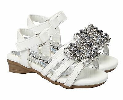 NWT Link Kid Girls White Butterfly Sandals Spring Summer Wedding Shoes Easter - Girls White Easter Shoes