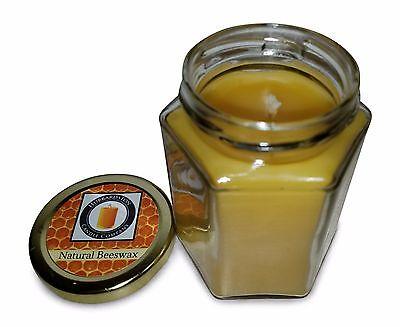 100% Pure Beeswax Jar Candle, 8 oz