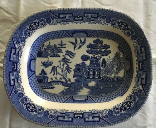 Buffalo pottery blue willow Platter 1911