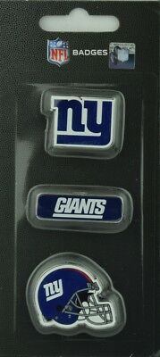 NFL Football NEW YORK GIANTS NY 3 teiliges Stück Badge Pin Set mit Helm Logo