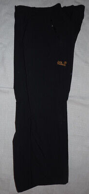 JACK WOLFSKIN Softshell Trousers black Size 14-16 inside l 30 VGC Hiking Outdoor