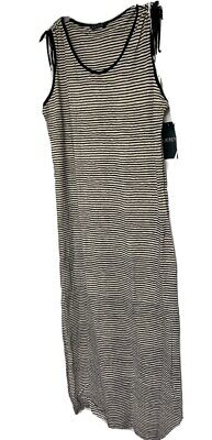 Lauren Ralph Lauren 956002 Women's B/W Long Sleeveless Dress M NWT MSRP $145