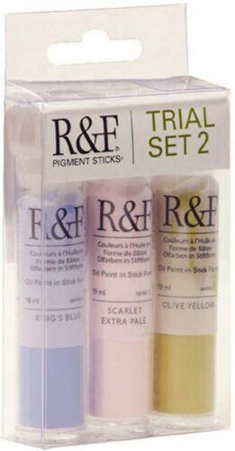 R&F Handmade Paints 19ml Oil Pigment Stick Trial Set 2, Set of 3