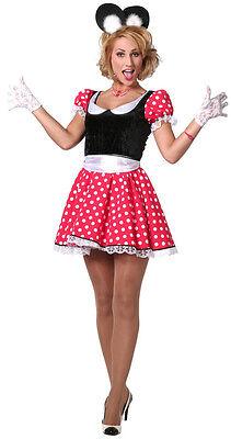 Minnie Maus Lady Kostüm NEU - Damen Karneval Fasching Verkleidung Kostüm