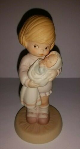 ENESCO Memories of Yesterday Figurine CAN I KEEP HER MOMMY #114545 1987