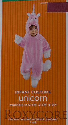 Halloween Infant Pink & White Unicorn Jumpsuit Costume Size 3-6 months 12-16 lbs (Babies Costumes)