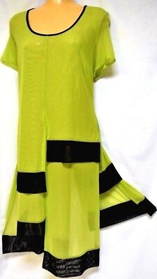 TS top TAKING SHAPE plus sz XXS / 12 Lush Tunic soft stretch mesh layering NWT!