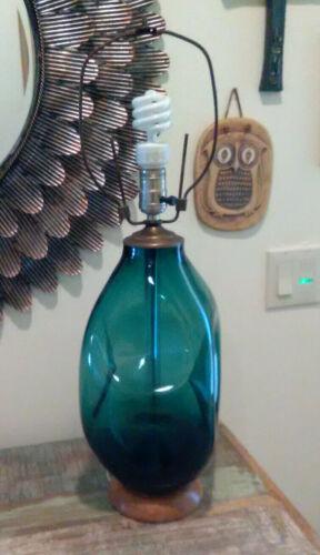 Vintage Blenko Dimpled Glass Lamp