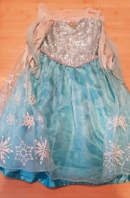 ORIGINAL Disney Store Frozen*Eiskönigin*Elsa-Kostüm*Gr.9-10 J./ Gr.140 gebraucht ()