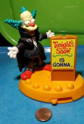 Vampire Krusty the Clown Burger King Toy w/Stand Simpsons Halloween Upcycle ](The Simpsons Halloween Vampire)