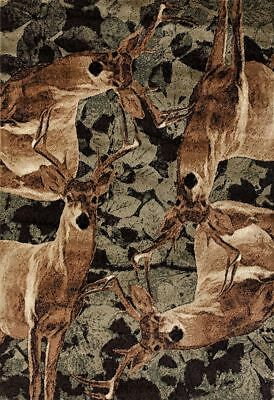 Rustic Lodge Deer - Lodge Deer Buck Camo Cabin Rustic Area Rug **FREE SHIPPING**