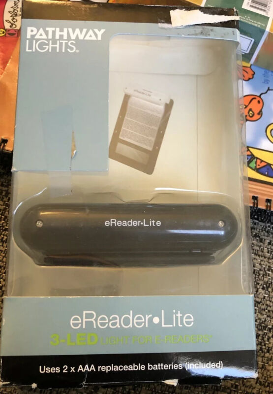 Pathway Lights 3 LED eReader Lite for eReaders, Laptops & Books - NEW