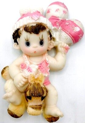 12pcs Baby Shower Favor Girl With Balloons Ceramic Figure Magnet In The Back](Girl In The Shower)