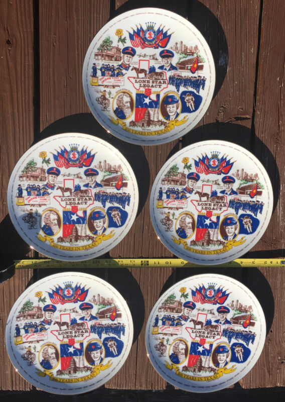 Lot Of Five (5) Lonestar Legacy Texas Salvation Army Commemorative Plates