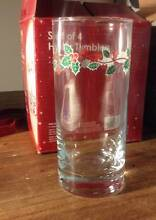 SET OF 4 CHRISTMAS GLASSES Tempe Marrickville Area Preview