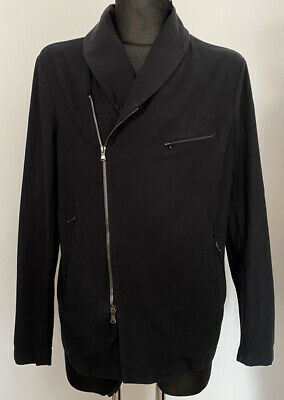 FORME D'EXPRESSION BLACK ITALY FASHION FULL ZIP JACKET SZ:52/M