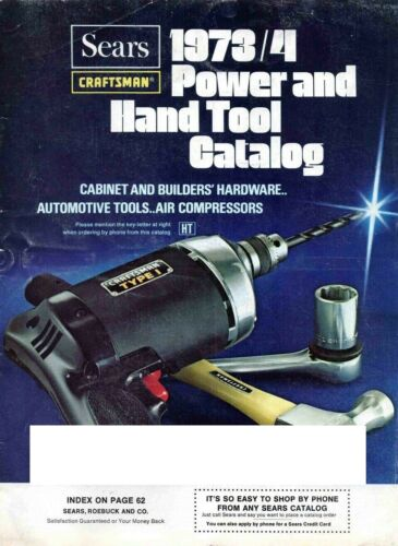 1973, 1974 Sears Craftsman Power and Hand Tool Catalog