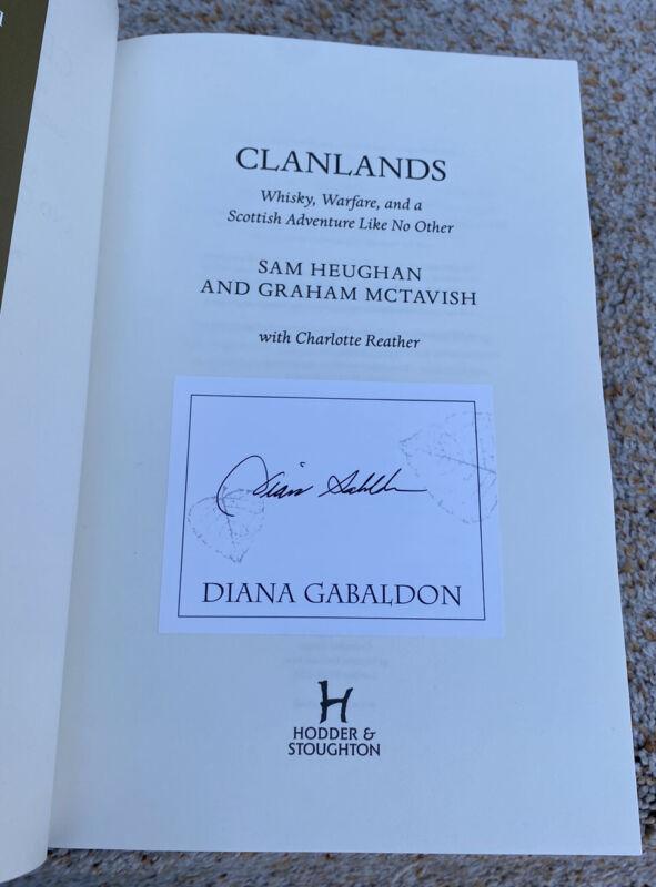 Diana Gabaldon Signed Book Outlander Clanlands