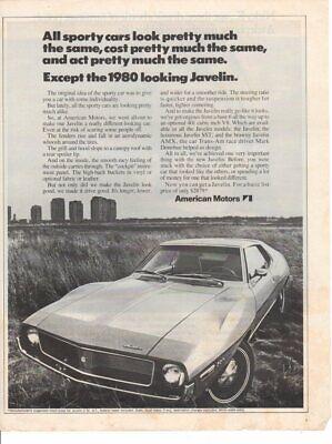 Vintage Print advertisement ad Car 1971 American Motors Javelin 1980 looking ad segunda mano  Embacar hacia Mexico
