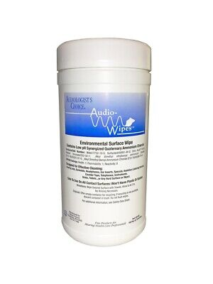 160 Wipes (Hearing Aid Audio-Wipes Cleaning Towelettes - Large Canister (160 Wipes) USA )