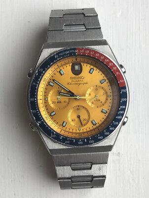"Vintage 1984 Seiko 7A28-7030 Gents Chronograph Watch aka ""Quartz Pogue"""