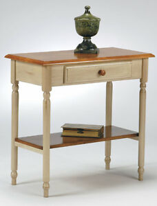 wood antique white wash cherry finish foyer hall entry console accent table cc07 ebay. Black Bedroom Furniture Sets. Home Design Ideas