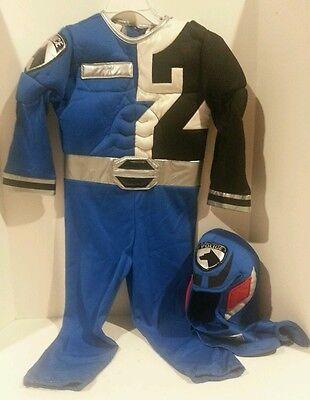 Power Rangers Costume Helmet (Disney Store Exclusive Power Rangers Blue Police Muscle Costume with Helmet)