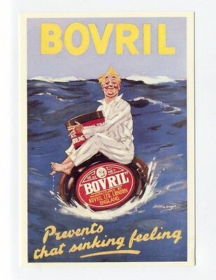 ad49 - Bovril - advert - art postcard