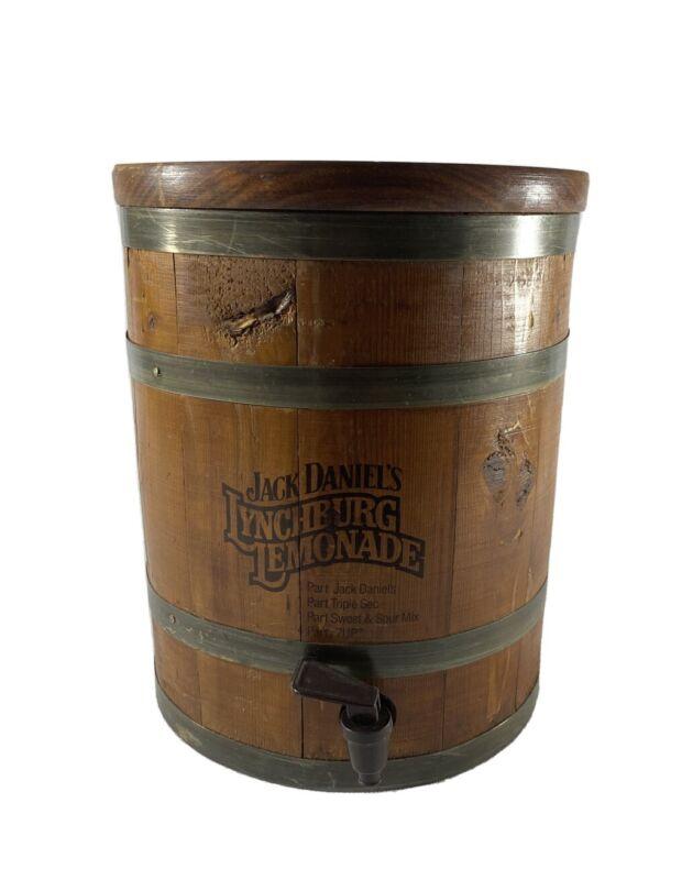 Vintage Jack Daniels Lynchburg Lemonade Wooden Dispenser Whiskey Barrel Jug