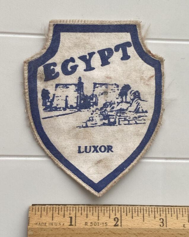 Luxor Egypt Egyptian Temples Souvenir Patch Badge