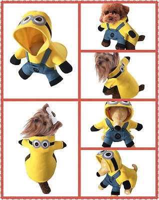 Pet Dog Cat Costume Halloween Pikachu McDonald Bee Police Navy Minion Pirate](Minion Cat Costume)