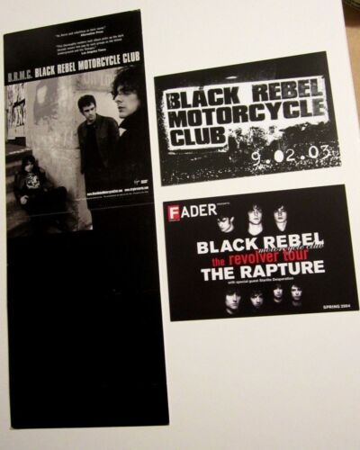 Black Rebel Motorcycle Club Lot BRMC Display Stand up Poster And Promo Postcards