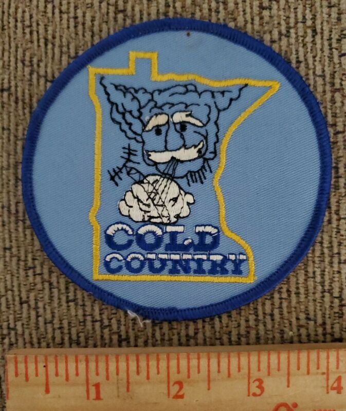 MINNESOTA COLD COUNTRY Sew On Patch MN