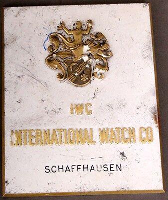 Antikes Werbeschild IWC International Watch Co. Schaffhausen um 1920/1930