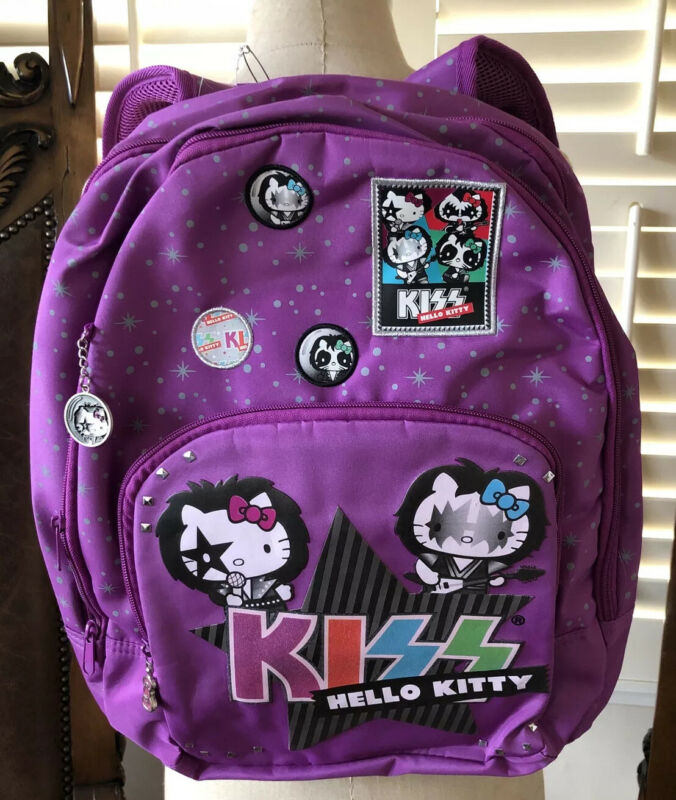 Rare 2013 KISS Hello Kitty Backpack from estate of Paul Stanley Kiss Co-founder