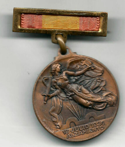Spain Medal Military Hoist And Victoria 18 July 1936