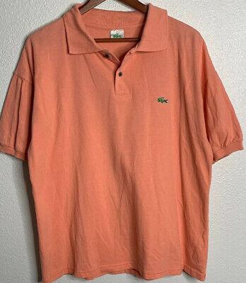 Lacoste Polo Mens Size 2XL Salmon Color