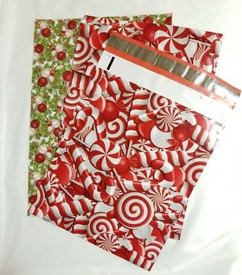 25 10x13 Designer Christmas Mailers Poly Shipping Envelopes Boutique Mix Bags