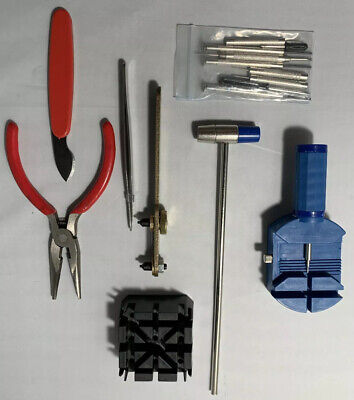 16Pc Watch Battery Change Repair Tool Band Pin Remover Back Case Opener Kit US