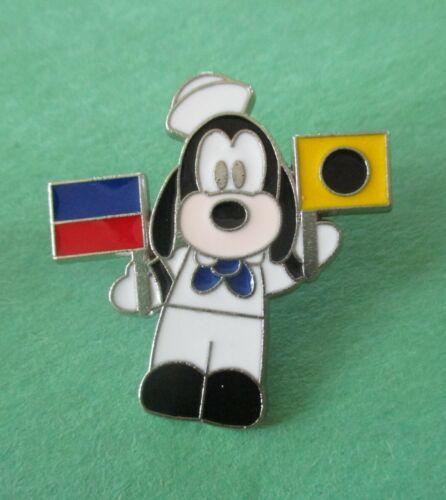 Cutie Goofy (Holding a Naval Flag in Each Hand) Disney Cruise Line Pin