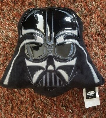 "Star Wars Darth Vader Embroidered Velvet 15"" Plush Decorative Pillow - New w/Tag"