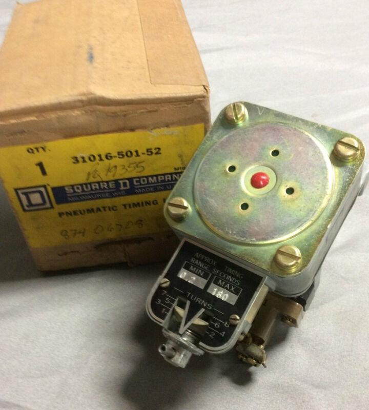 Square D Pneumatic Timing Unit 31016-501-52 *NEW* 3101650152