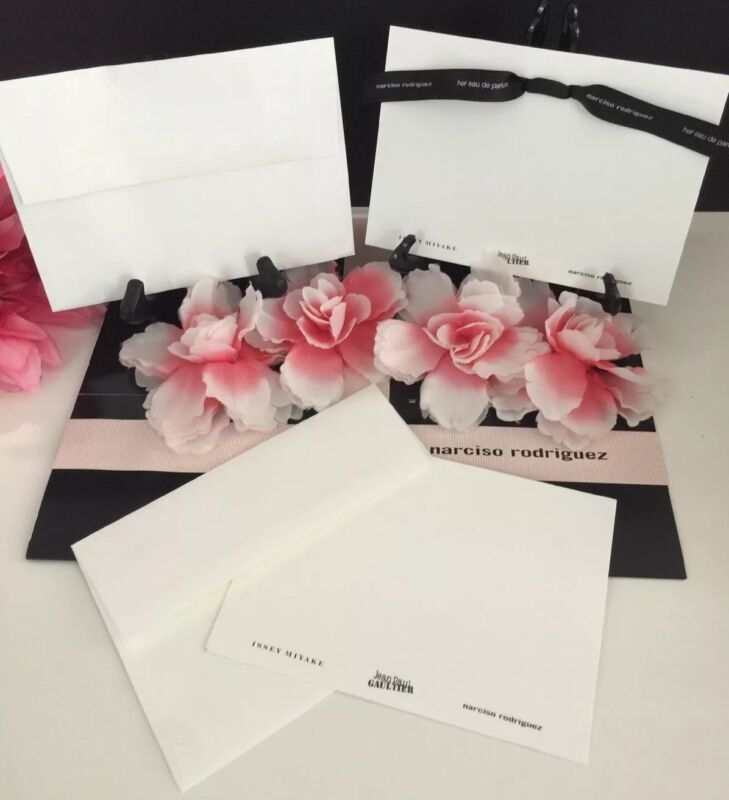 Narciso Rodriguez Perfume Note Cards Jean Paul Gaultier Issey Miyake Lot 100